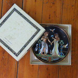 The Marriage of Tutankhamun Porcelain Plate 1991